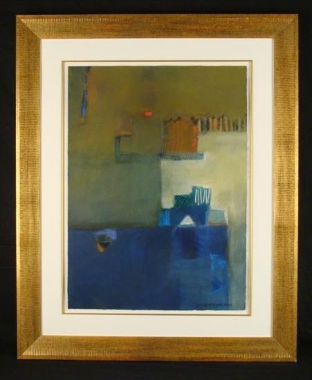 Cecilia Garcia Amaro Original Painting Blue Wind