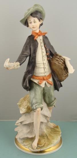 Giuseppe Armani Vintage Ceramic Figurine Statue Boy