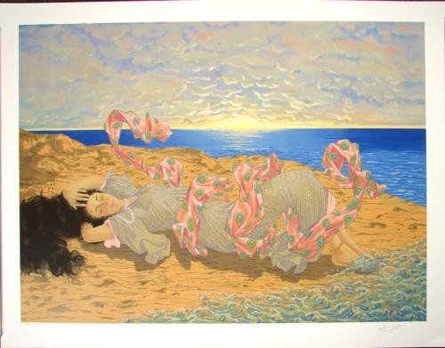 Kudo OCEAN BREEZE Contemporary Japanese Signed LE Art