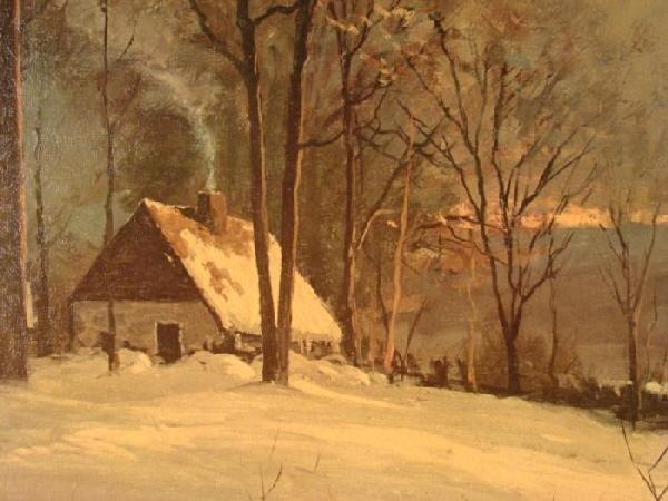 Robert Wood Large Winter Nature Scene Art Print Framed - 2