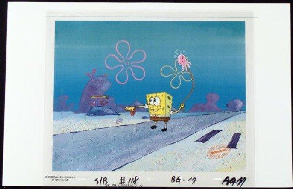Original Capture SpongeBob Background Art Cel Animation
