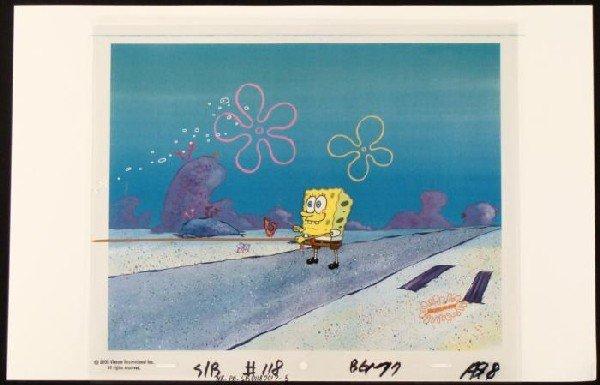 Left Original SpongeBob Jelly Background Cel Production