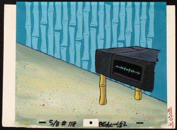 SpongeBob Stereo Original Background Animation Cel Art