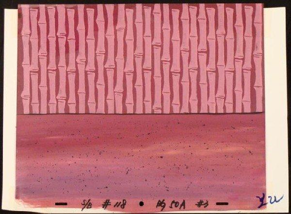 Wall Original Floor SpongeBob Pink Production Cel Art