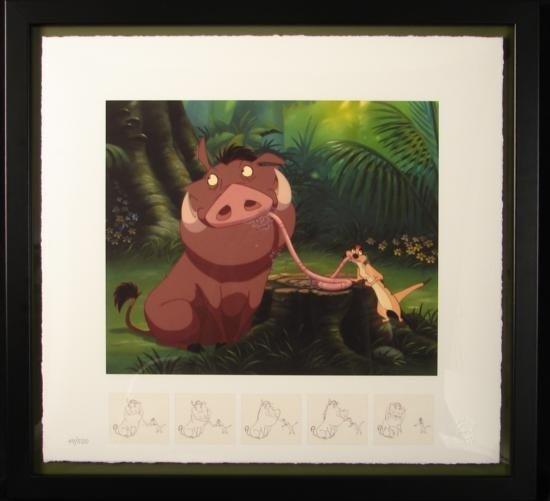 LION KING Disney Art Print Savor the Moment LE Framed