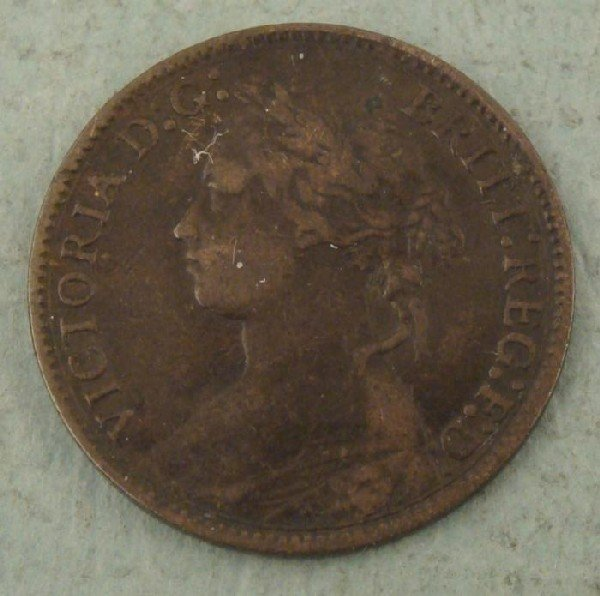 1875 Great Britain Farthing -Strong Coin Great Detail