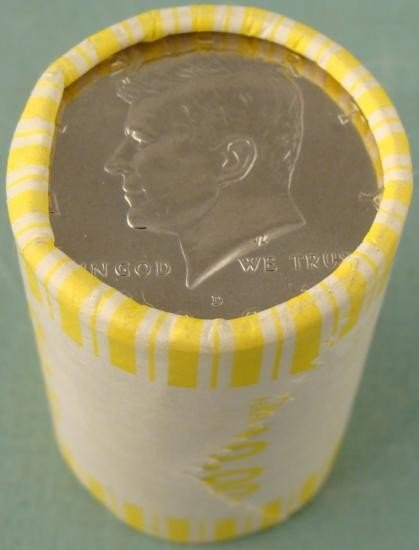 2001 D Bank Wrapped Roll Kennedy Halves Half Dollars