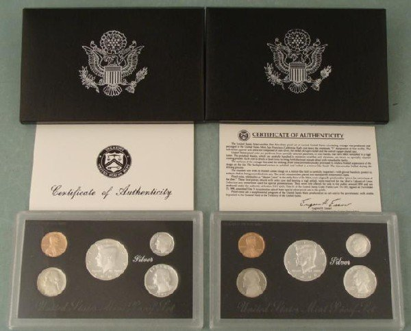 1992 + 1998 United States Silver Proof Set (Black Box)