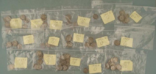 125 Mixed Mint Marks Jefferson Circ. Nickles 1939-1949