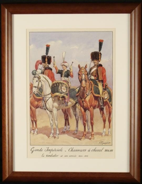 French Napoleon Cavalry Hunters Print Rousselot