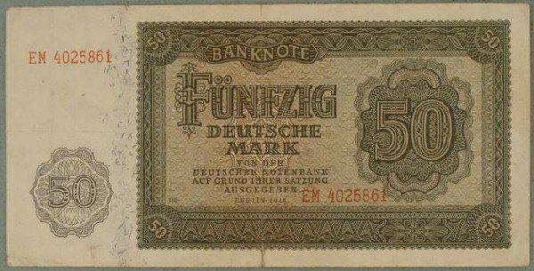 Germany 1948 50 Deutsche Mark Paper Money
