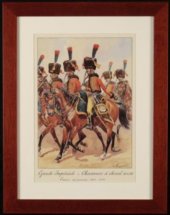 French Napoleon Cavalry Print Imperial Parade Rousselot