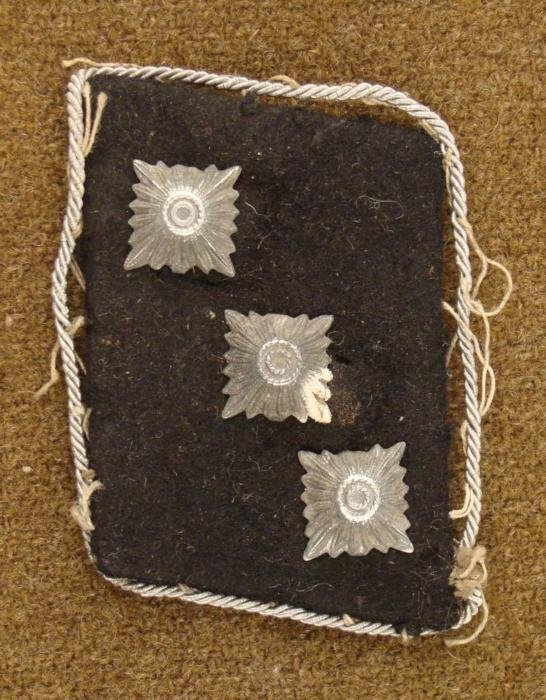 WWII Nazi SS Officers 3 Pips Shoulder Rank Patch