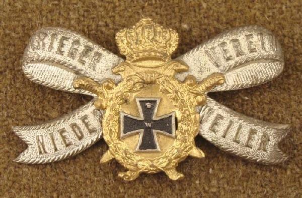 German WWI Imperial Veteran Badge Pin Back