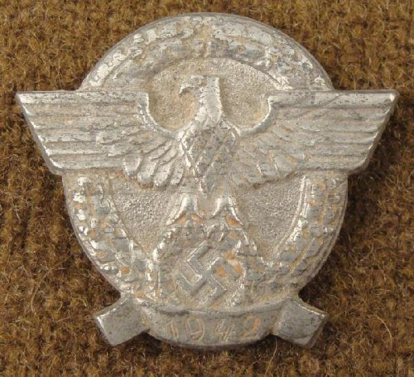 Police 1942 Nazi Rally Pin Maker Marked WWII