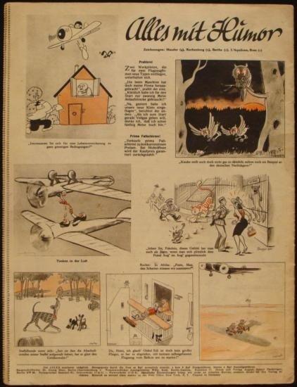 NAZI WWII LUFTWAFFE MAGAZINE  DER ADLER  ORIGINAL - 3