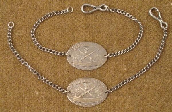 Pair (2) French WWII Artillery Unit Bracelets La Legion