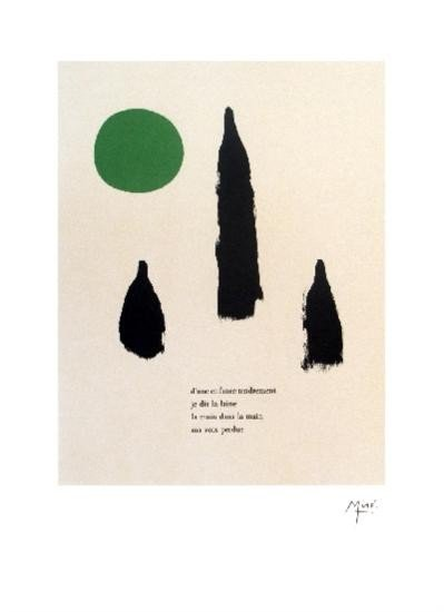 Miro Illustrated Poems- Parler Seul  Lithograph