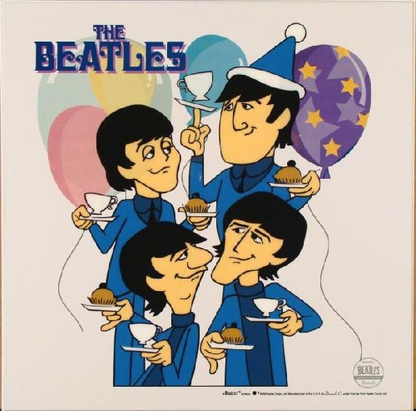 Beatles Cartoon Ltd Ed Sericel Animation Cel Crumpets