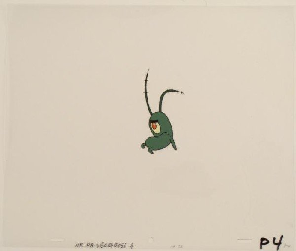 Sit Down Original Plankton Cel SpongeBob Art Animation
