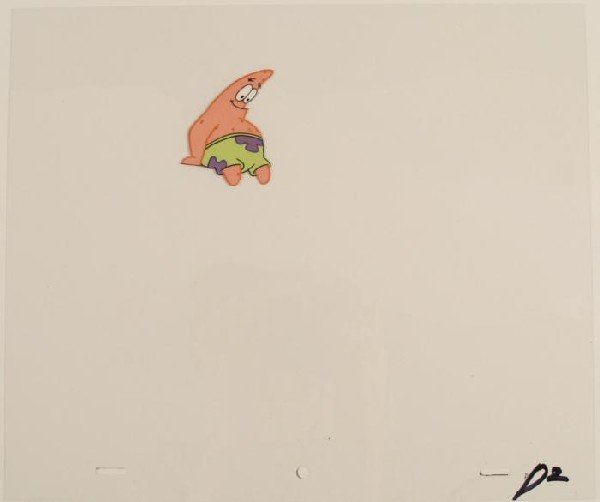 Animation SpongeBob Original Patrick Sitting Cel Art