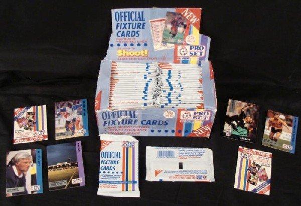 Pro Set UK Football Soccer Cards 1990-91 Box 45 Packs