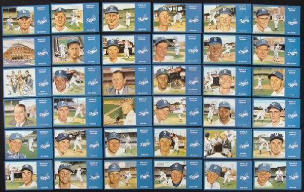 1988 Brooklyn Dodgers Postcards Set of 36 Cards MLB