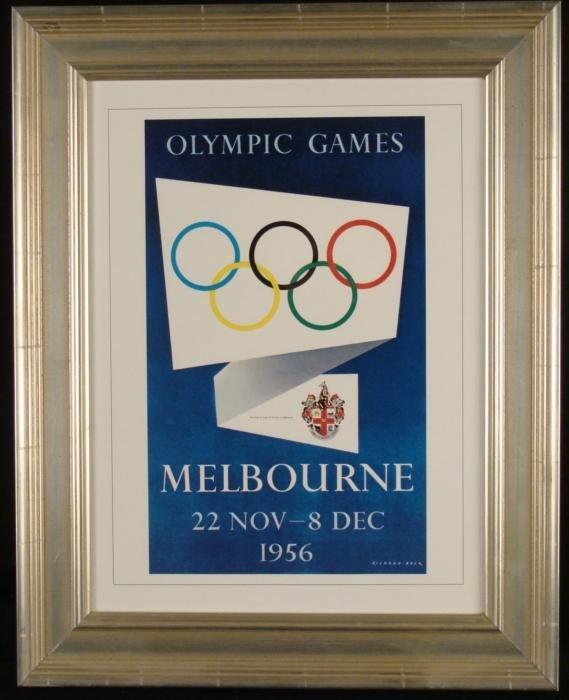 Olympic Games Framed Poster Print Melbourne 1956