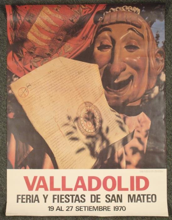 Valladolid Fiestas San Mateo Vintage Poster Spain 1970