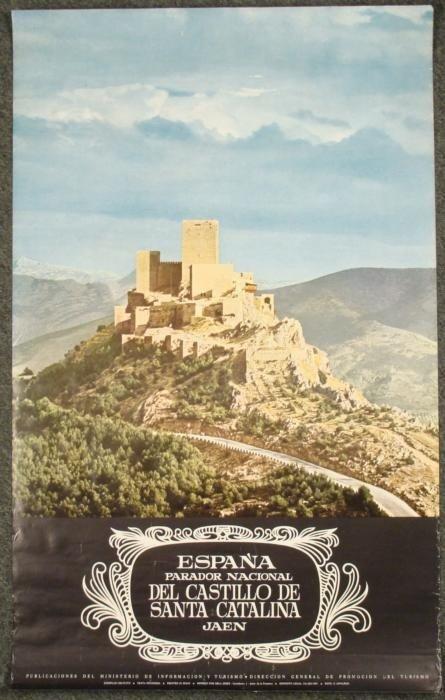 Espana Castillo de Santa Catalina Vintage Poster Spain