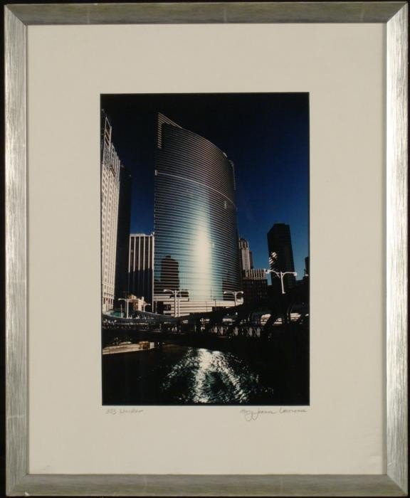 Mary Jeanne Lawrence Chicago Building Photograph Framed