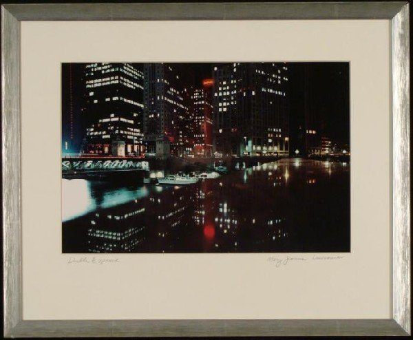 Mary Jeanne Lawrence Chicago River Photograph Framed