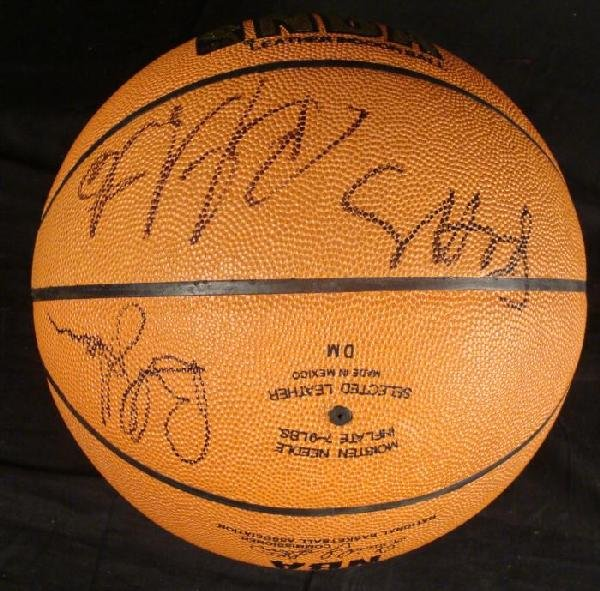 Chicago Bulls Signed Basketball 7 Sigs Will Perdue