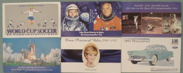 6 Event Commem Coins: World Cup, Princess Di, Space