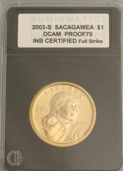 2003-S DCAM Proof 70 Sacagawea Dollar Certified Coin
