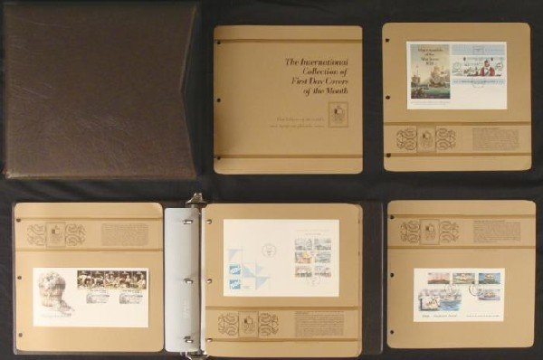 1986 International First Day Covers Month Stamp Album