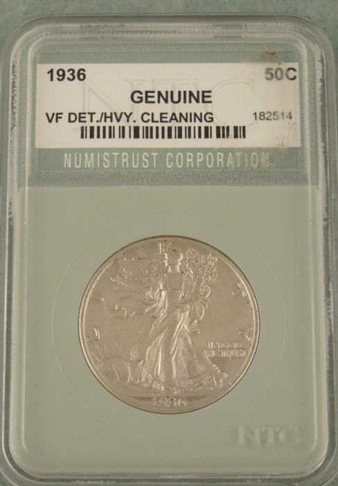 1936 Walking Liberty Half Dollar NTC Graded Slabbed