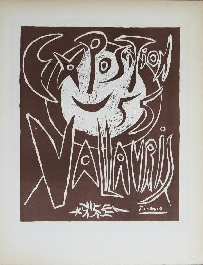 Picasso Exposition Vallauris III Mourlot Litho