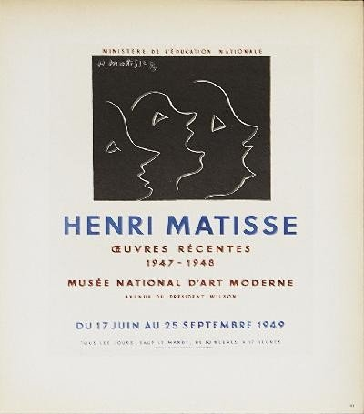 1959 Matisse Musee National dArt Litho