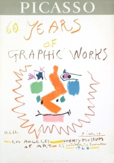 1966 Picasso 60 Years Of Graphic Work Litho