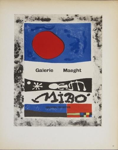1959 Miro Galerie Maeght Mourlot Lithograph