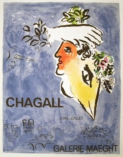 1964 Chagall The Blue Sky Mourlot Lithograph