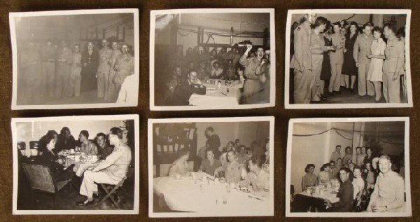 6 ORIGINAL WW II GI PHOTOS + BRITISH, NAMED
