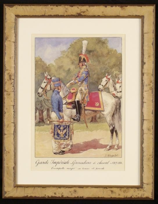 French Guard Napoleon Cavalry Grenadier Print Rousselot
