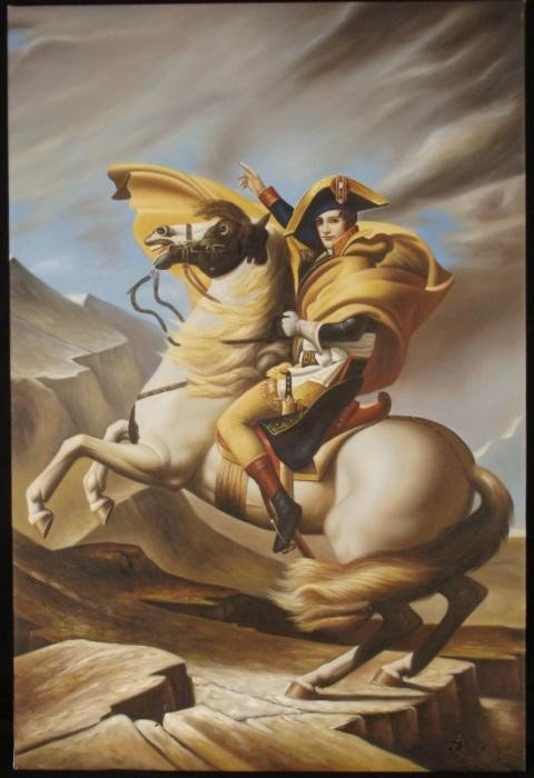 Art Print French Soldier Man on Horseback