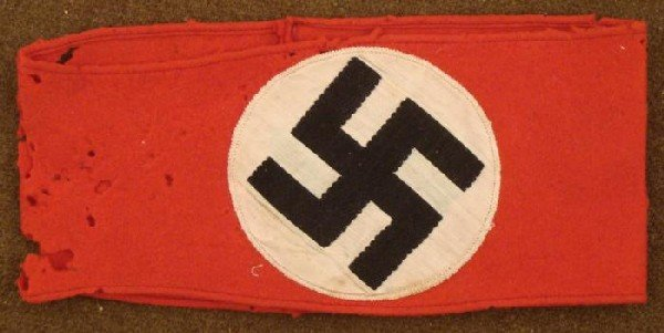 NSDAP NAZI PARTY ARMBAND -MULTI-PIECE WOOL CONSTRUCTION