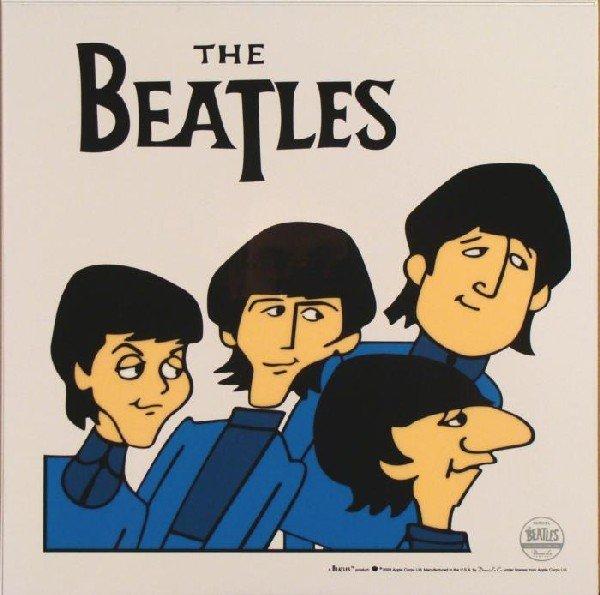 Beatles Cartoon Ltd Ed Sericel Animation Cel Posing