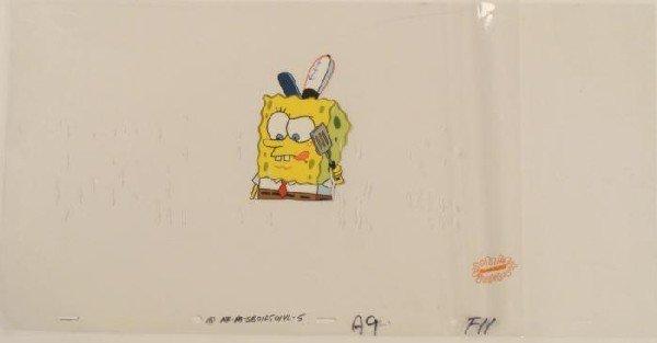 Krabby Patties Original Animation Art SpongeBob Cel