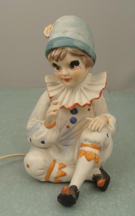 Vintage Clown Figurine Lighted Nightlight Ardalt