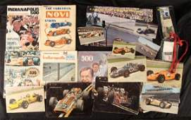 Indy 500 Lot Postcards Annual Yearbooks Program